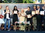 Bina Kak with Salim Khan, Katrina Kaif, Salman Khan and Mike Pandey