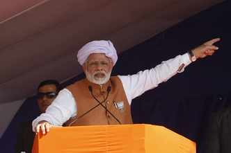 Modi to win by huge margin if LS polls held today: Times mega poll