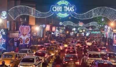 Park Street Kolkata During Christmas.All Roads Lead To Park Street As Xmas Fest Kicks Off In