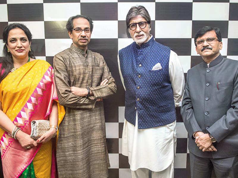 Rashmi Thackeray, Uddhav Thackeray, Amitabh Bachchan and Sanjay Raut