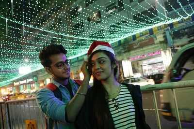 Park Street Kolkata During Christmas.Kolkatans Soak In Christmas Fervour On Park Street Kolkata
