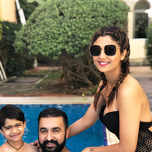 Shilpa Shetty chills by the pool with hubby & son in Dubai