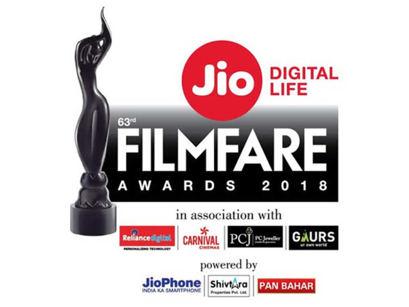 63rd Jio Filmfare Awards 2018 nominations
