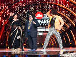 Vidya Balan and Ranveer Singh with Bappi Lahiri