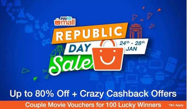 12d276364 Paytm Mall has announced a four-day long Republic Day sale starting from  January 24