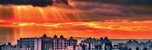 Blessing at sunrise