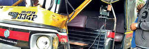 Rickshaw crashes at RTO's Baramati testing track, two officials injured