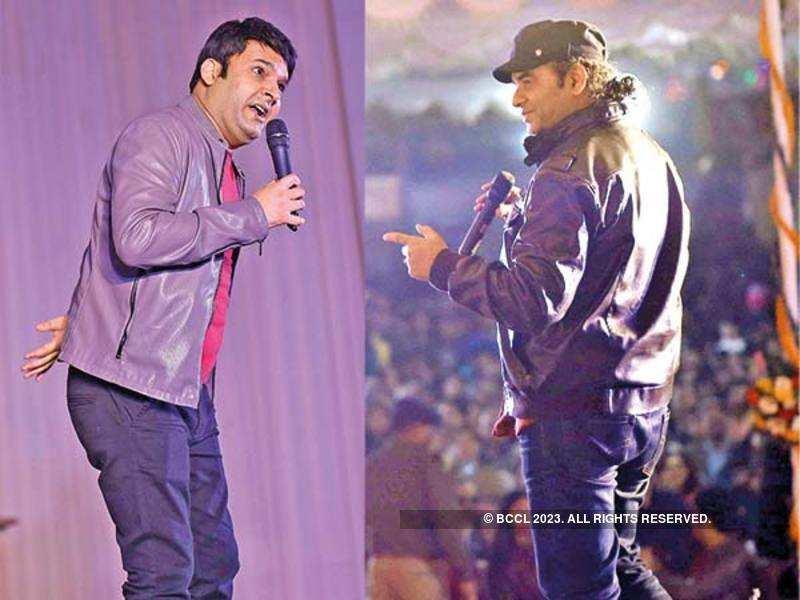 Kapil Sharma and Mohit Chauhan at the event (BCCL/ Ajay Kumar Gautam)