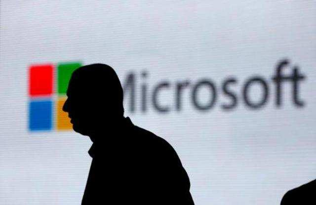 LED waterfall, digital lake at Microsoft's Dublin office