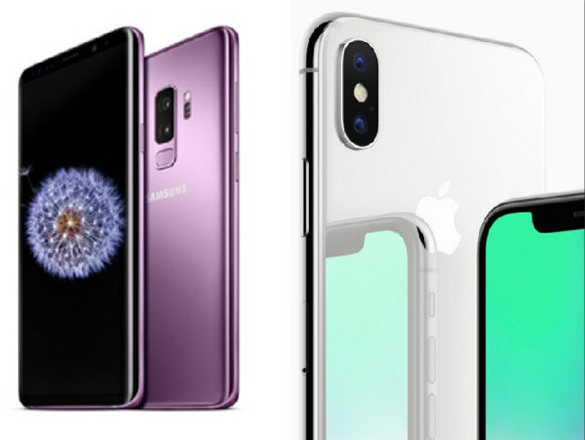 How Samsung's new Galaxy S9 compares to the Apple iPhone X