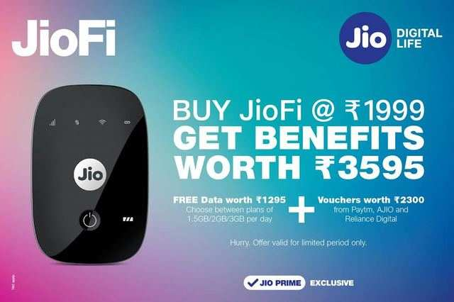 Reliance Jio's new offer gives benefits worth Rs 3,595 with JioFi