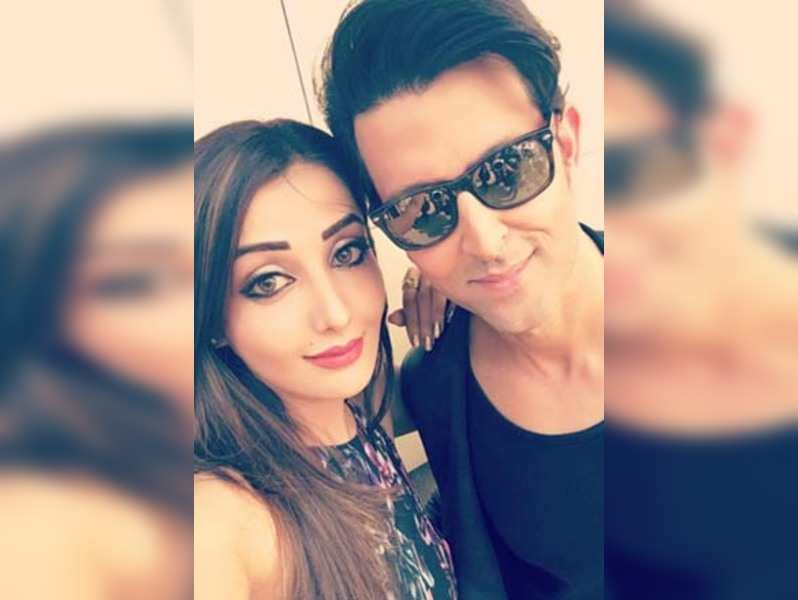 Sonia Mann posted this picture of herself with Hrithik Roshan