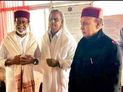 Rajini meditation: Superstar Rajinikanth in Himachal Pradesh for