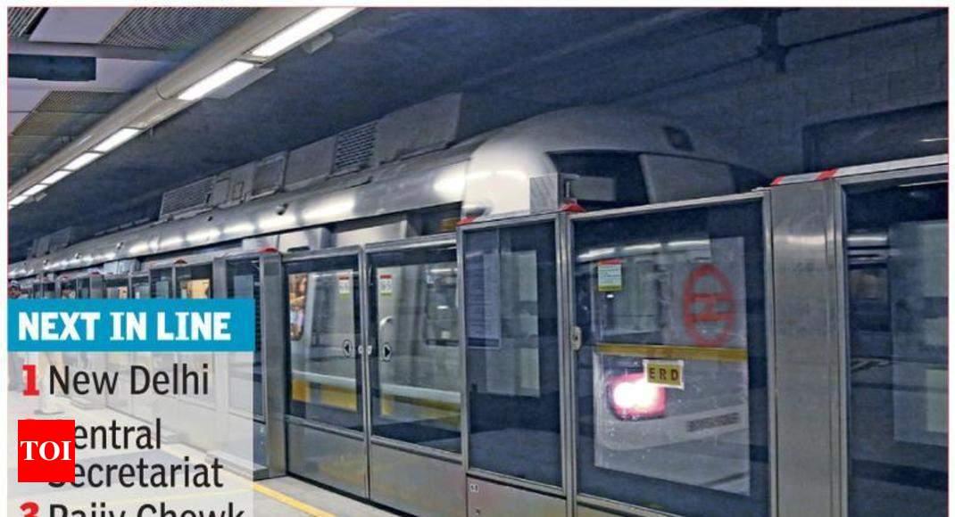 Chandni Chowk Chawri Bazar Stations Get Platform Screen