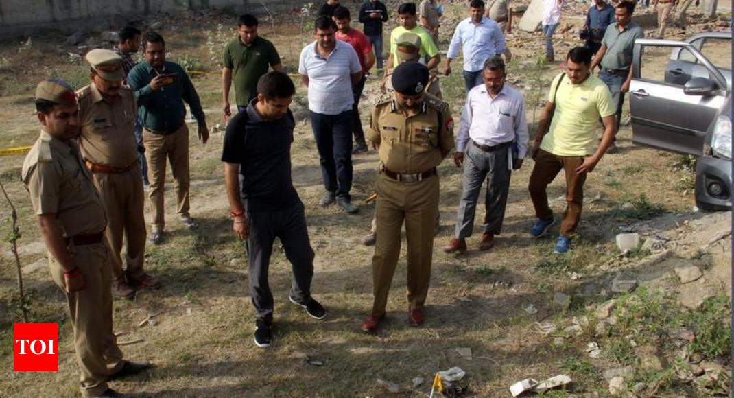 Noida Encounter Gangster Fires With AK 47 At Cops Shot Dead
