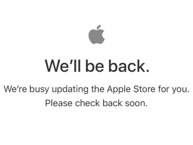 Busy updating apple store