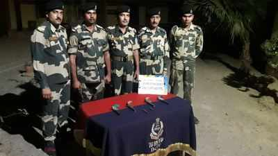 Indo-Bangla border: BSF seizes country-made pistols along