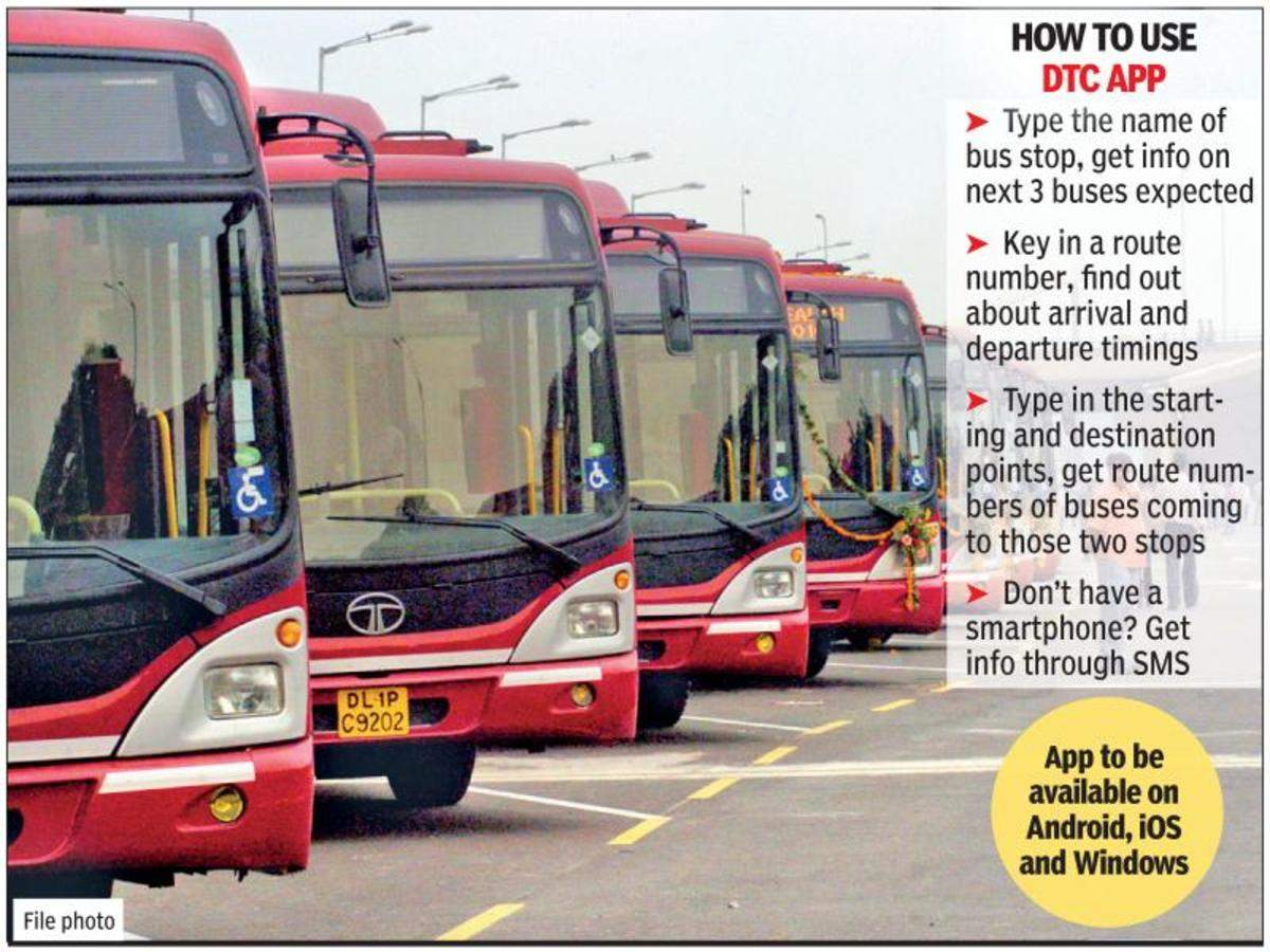 Dtc Dtc To Develop App For Real Time Information About Buses Location Delhi News Times Of India