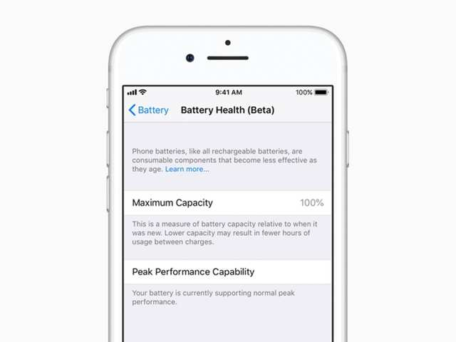 Apple iOS 11.3 battery health