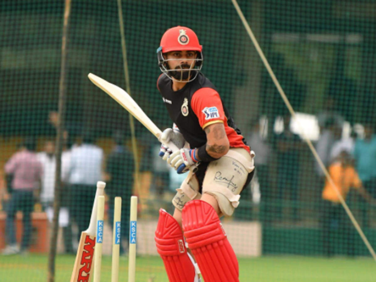 virat kohli: IPL 2018: Virat Kohli hits the nets at RCB training session | Cricket News - Times of India