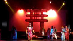 Theatre artists stage play at Ravindra Natya Mandir during 8th Theatre Olympics