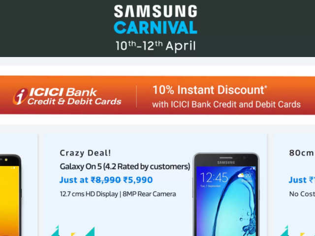 As part of this carnival, users get discounts, exchange offers and no-cost EMI on Samsung products ranging from smartphones, televisions, washing machines refrigerators, air conditioners, microwaves, air purifiers, tablets mobile accessories and more.