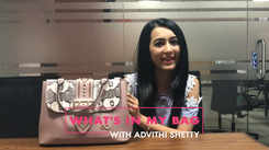 What's in my bag with Adhvithi Shetty
