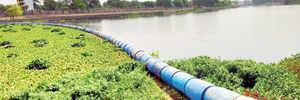 Drumroll: Alandi civic worker stems hyacinth menace on Indrayani river
