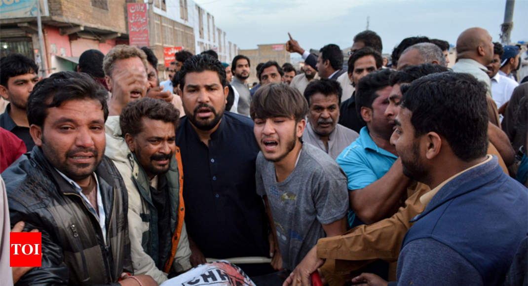 Protests against killing of two Christians in Pakistan - Times of India