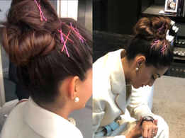 Sonam Kapoor showed us an expected way to wear bobby pins