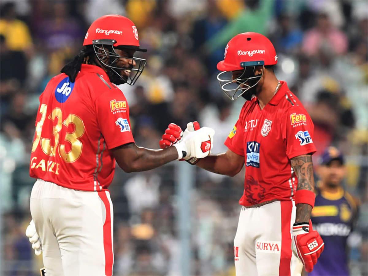 KXIP vs KKR result: Chris Gayle, KL Rahul make short work of KKR to go top  | Cricket News - Times of India
