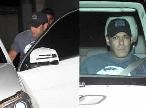 Salman spotted at Ramesh Taurani's office