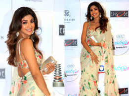 Shilpa Shetty's sari is perfect for a summer wedding