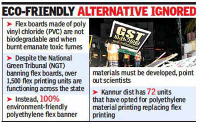 Flex boards, a cause for concern in Kerala