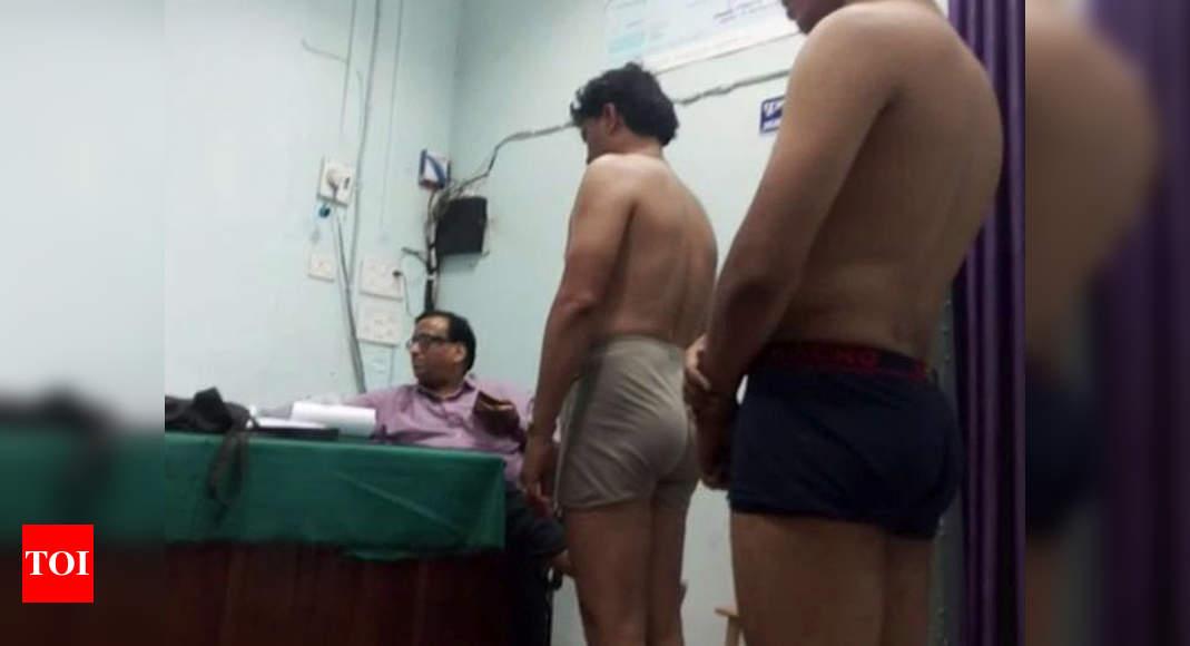 Porn clip girls naked at prison medical exam