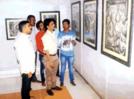 Gajanan Kambhle showcases his artwork in Kolhapur