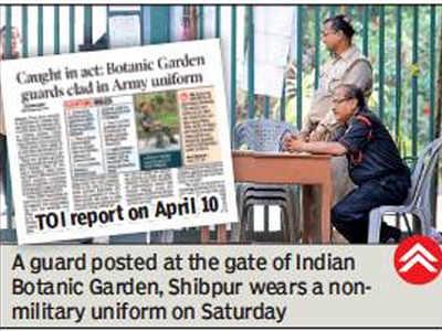 Botanic Garden security guards get new uniforms | Kolkata