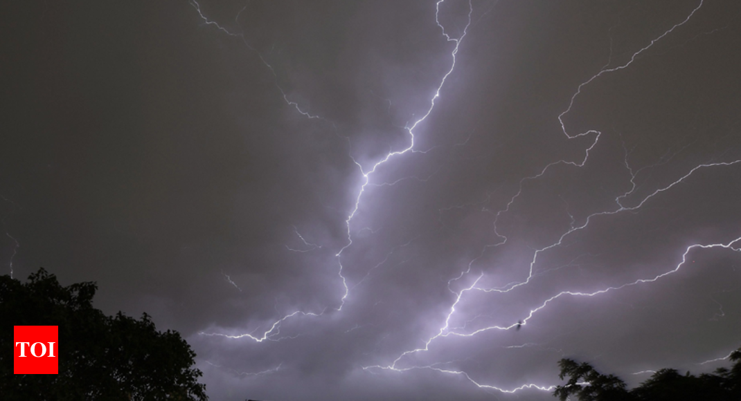 80 dead, 136 injured in 5 states due to lightning strikes, thunderstorms - Times of India