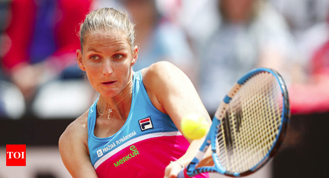 Pliskova smashes umpire's chair after losing Rome match - Times of India