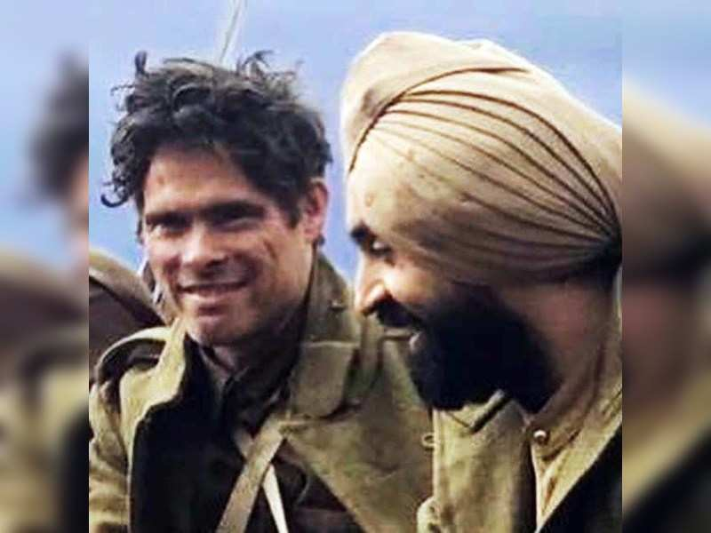 Alex Reece with Diljit Dosanjh in a still from Sajjan Singh Rangroot