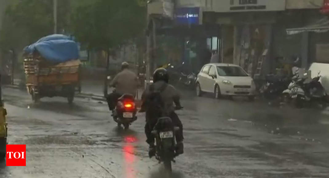 Hyderabad Rain Hyderabad Receives Up To 4 Cm Rainfall In An Hour Hyderabad News Times Of India