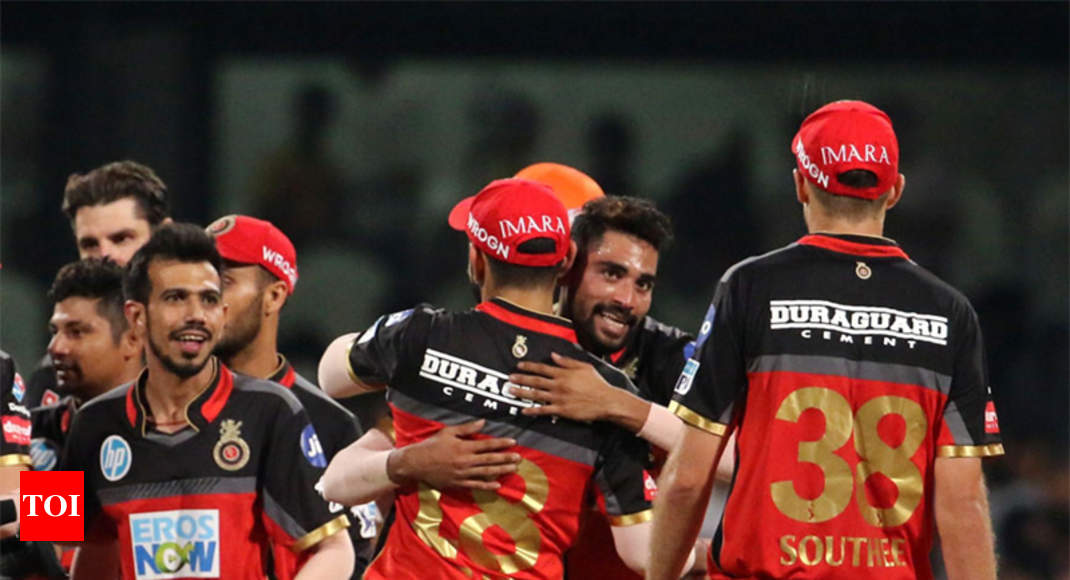 RCB vs SRH: Royal Challengers Bangalore beat Sunrisers Hyderabad to remain in play-off contention - Times of India