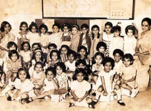 Throwback pic from Aishwarya's school days