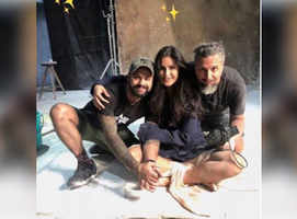 Katrina Kaif poses with her bestest boys