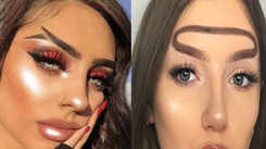 Trying out Instagram's most bizarre eyebrow trends