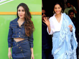 Kareena's denim skirt or Sonam's denim sari?