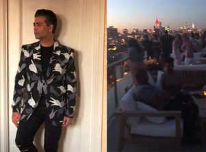 KJo hosts terrace birthday party in New York