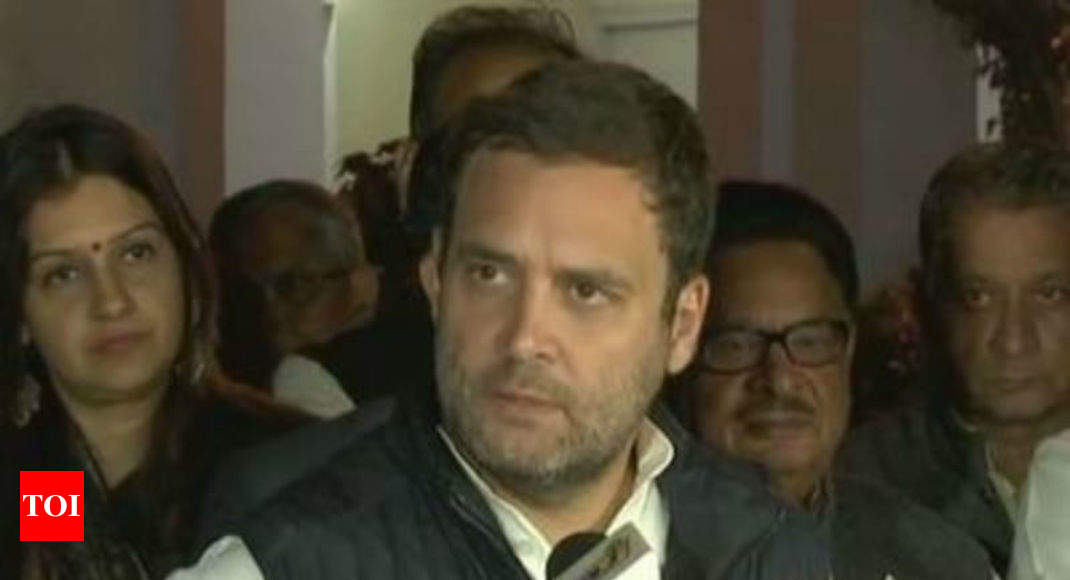 Congress: Ticket to one who gets biggest crowd for Rahul rally