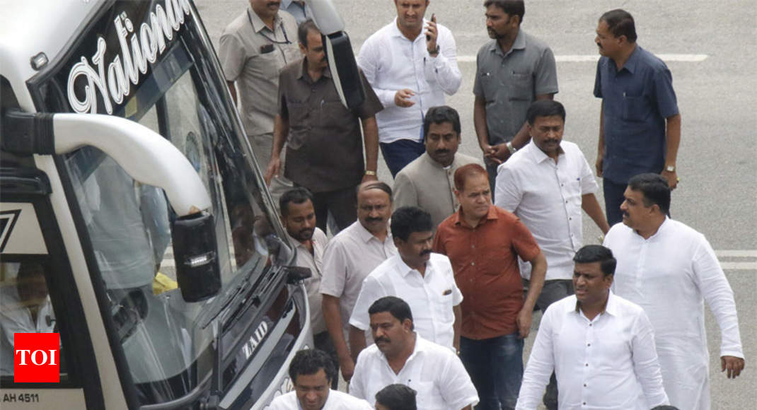 Berth over hearth: Out of hotel, Congress MLAs rush to Delhi to ...