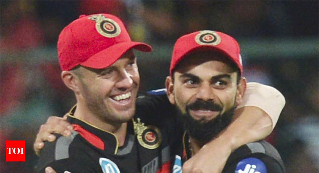 Virat Kohli bids farewell to 'brother' AB de Villiers - Times of India